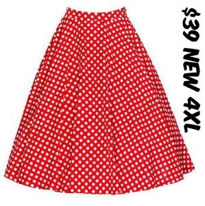 Dresses & Skirts - Plus Size Pin Up Clothing Skirt Vintage Style 4XL